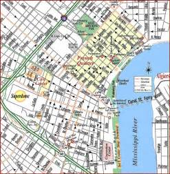 New Orleans French Quarter Tourist Map by Gallery For Gt New Orleans City Tourist Map