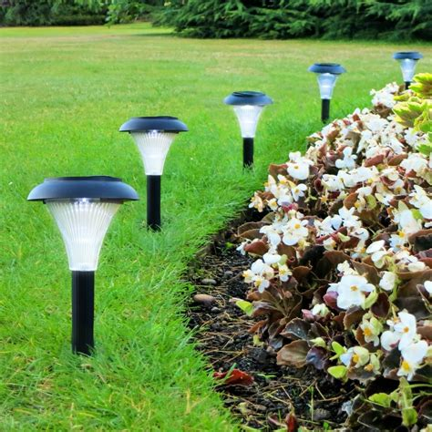 Solar Led Outdoor Light Set Of 10 Garden Lighting Path Lights Yard
