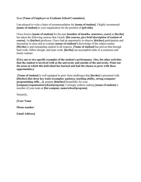 template of letter 43 free letter of recommendation templates sles