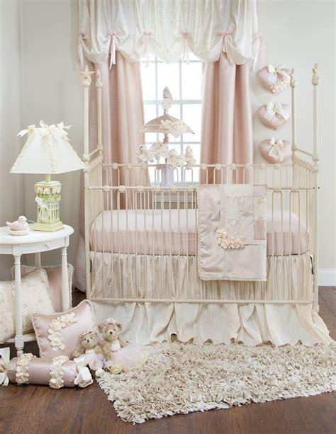 Bumper Free Crib Bedding Glenna Jean Ribbons Roses 3 Pc Set Bumper Free Free Shipping