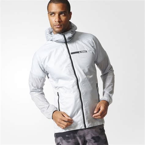 Hoodie Jacket White adidas terrex agravic mens white hoody sleeve zip hoodie hooded jacket top ebay