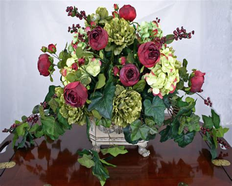 silk floral centerpieces for tables large floral arrangements for dining room table 28