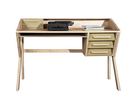 wood writing desks with drawers origami writing desk by ethnicraft