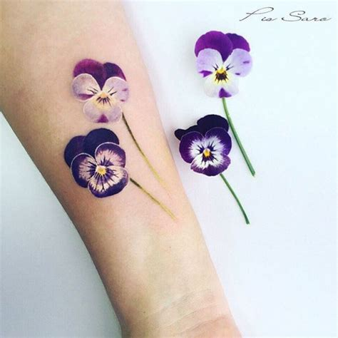pansy flower tattoo best 25 pansy ideas on