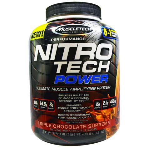 Nitrotech Power 5 Lbs Muscletech muscletech nitro tech power ultimate lifying protein chocolate supreme 4 00