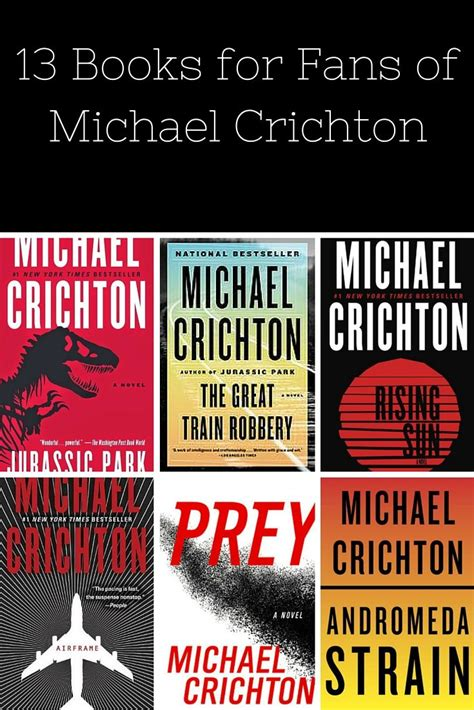 Novel Michael Crichton 30rb 13 books every michael crichton fan should read parks and fans