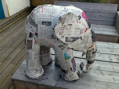 How To Make Paper Mache Stronger - how to build an elephant in 5 easy steps step 2