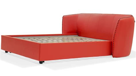 red platform bed vitali leather red platform bed by zuri furniture zuri