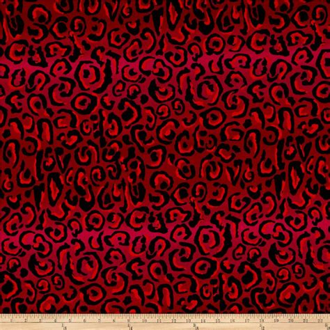 leopard print fabric red les meowserables leopard print red pink discount