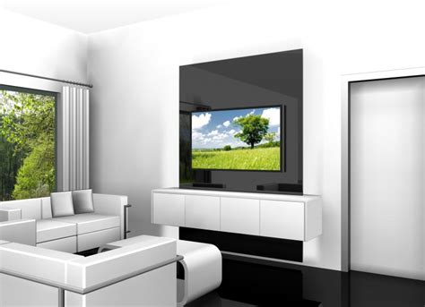 fernseher an die wand tv wall quot square quot tv wand mit sideboard tv w 228 nde tv