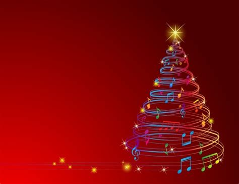 musical christmas tree free vector in adobe illustrator ai