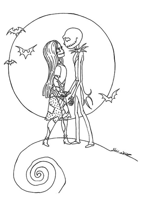 Coloring Nightmare Before Christmas Tattoo Coloring Pages Nightmare Before Coloring Pages For Adults