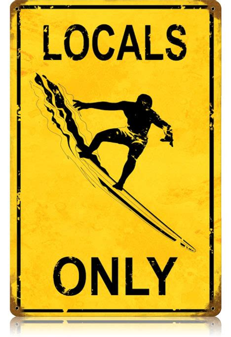 Locals Only locals only vintage metal sign