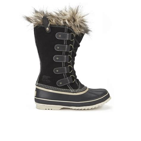 sorel s joan of arctic suede boots black womens
