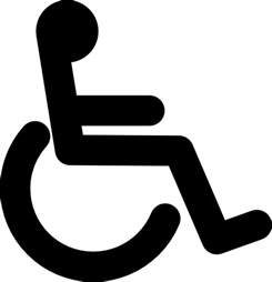 disabled wheel chair access sign clip at clker