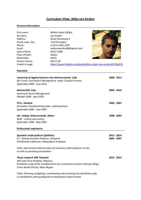Resume Information Definition Curriculum Vitae 2