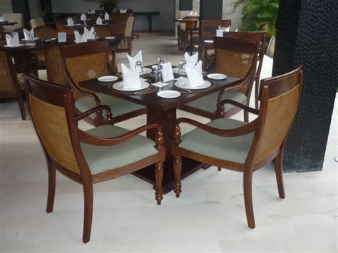 Armchair Table by Hospitality Colonial Style Square Dining Table And Single Armchair Bali Teakwood Furniture