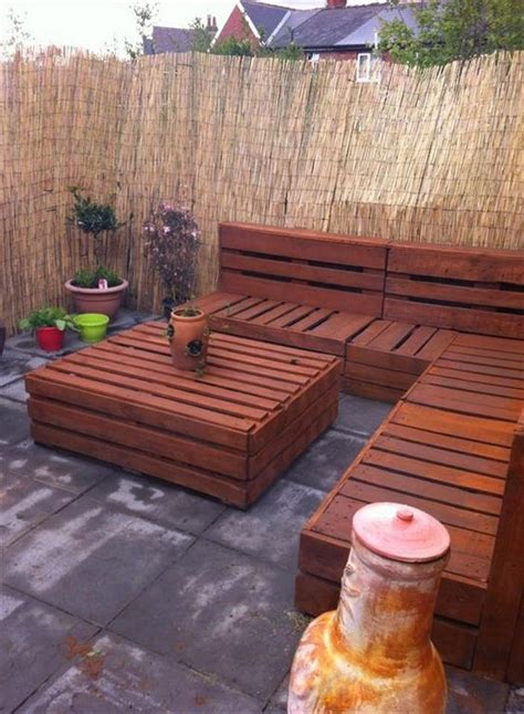 patio furniture made with pallets 20 ideas for pallet patio furniture pallet ideas