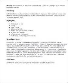 soft skills cover letter sle cover letter for soft skills trainer cover letter