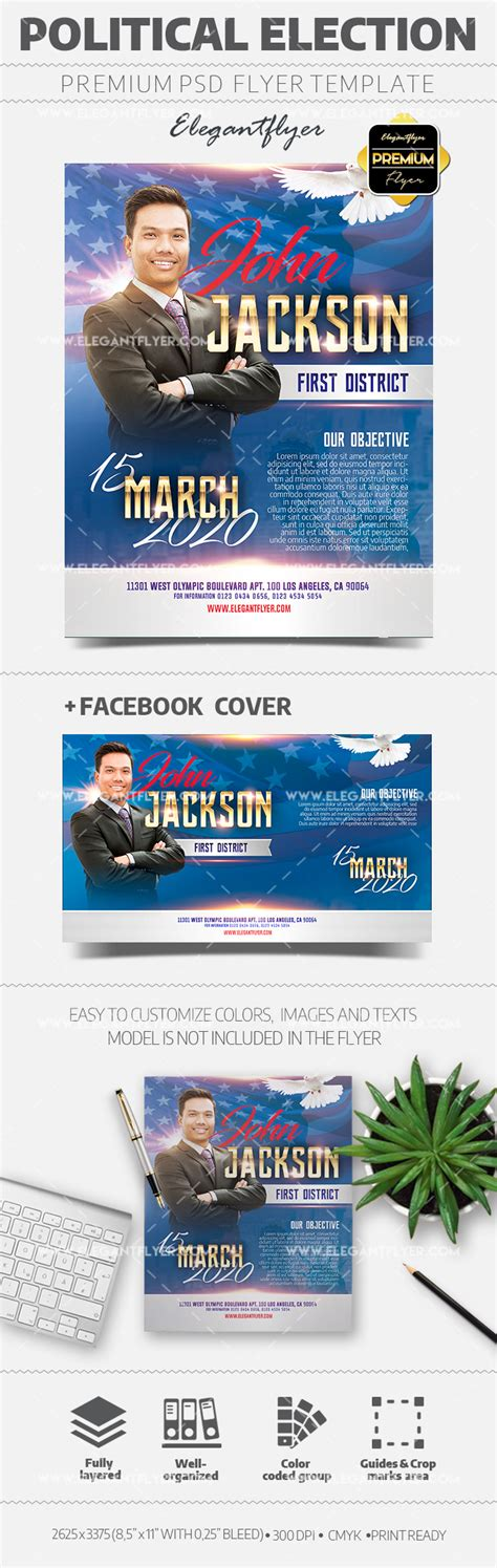 Political Election Caign Flyer Template