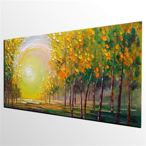 large artwork oil painting living room wall art landscape painting