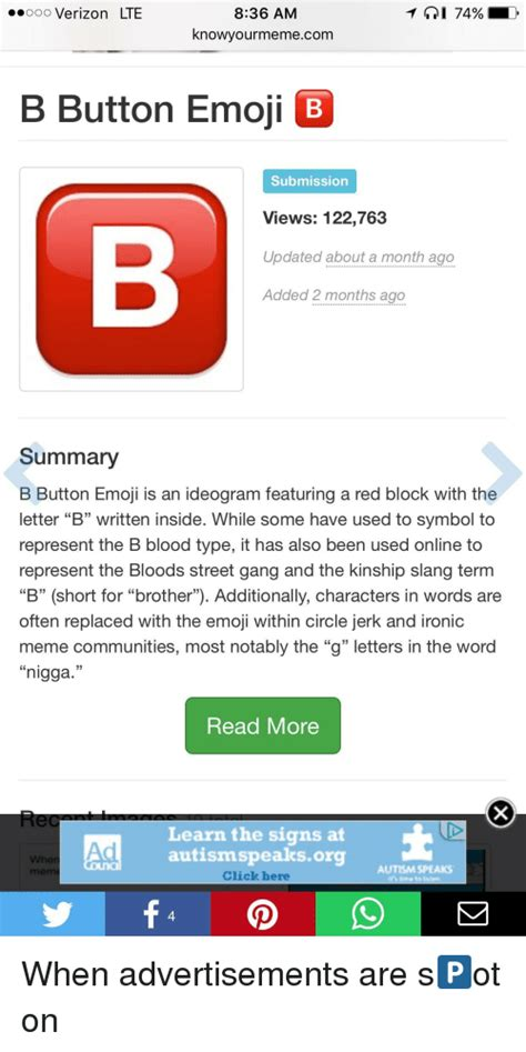 B Meme - 25 best memes about b button emoji b button emoji memes