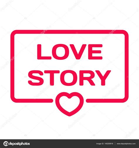 themes love story love story badge with heart icon flat vector illustration