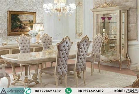 Kursi Makan Elegan meja makan 6 kursi elegan desain terbaru klasik ukir eropa