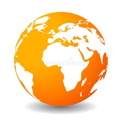 earthy orange earth icon royalty free stock photo image 31087325