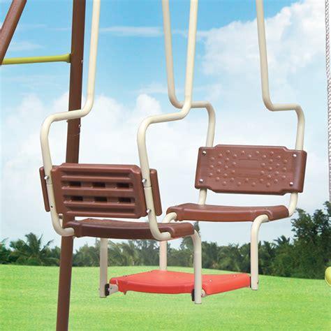 swing accessories uk xxl 5 children metal frame swing glider set outdoor garden