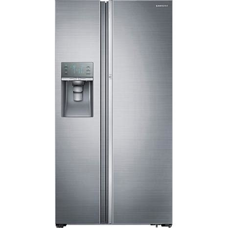 samsung refrigerators door samsung 29 cu ft side by side refrigerator with showcase