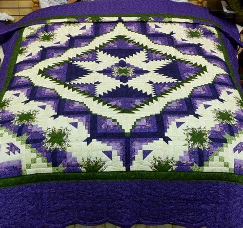 quilt pattern eureka eureka quilt e151 queen 92x112 purple green star