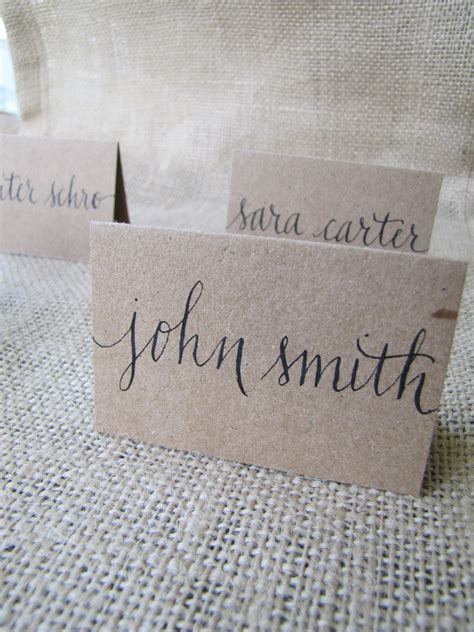 Wedding Font For Place Cards by Wedding Name Place Table Or Cards Shabby