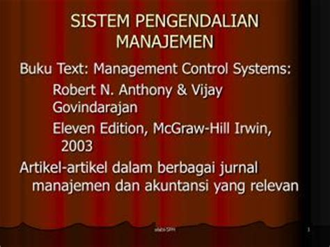 Buku Manajemen Cintrol Systen ppt sistem pengendalian manajemen sektor publik powerpoint presentation id 4698613