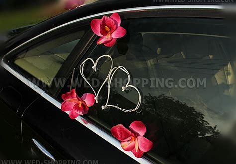 Decorate Wedding Car With Pink Flowers by Wedding Car Decorating Kit Pink Orchids