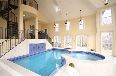 homes with indoor pools majestic house indoor swimming pool with square shaped