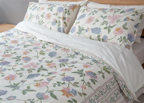 floral bed sheets manali floral duvet cover natural bed company