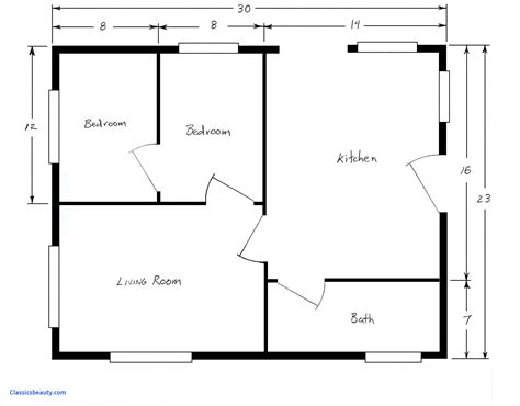 simple floor plan blank house floor plan template