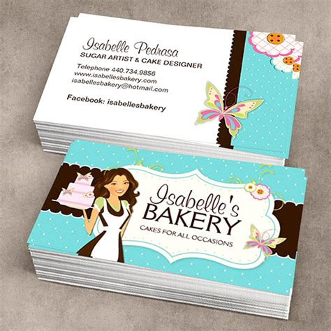 Bakery Business Card Template whimsical bakery business card custom business card