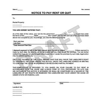 letter table rental nyc late rent notice create a free notice to pay rent or