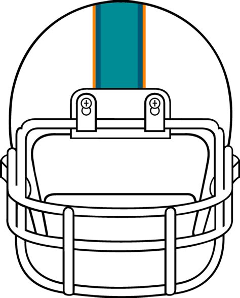 Football Helmet Outline Profile by Best Football Outline Clipart 28734 Clipartion
