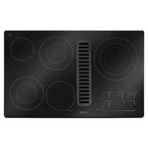 Downdraft Cooktops Jenn Air 36 Quot Electric Downdraft Cooktop Jed4536wr Black W Bronze Highlights Ebay