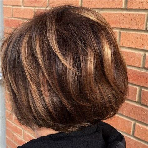 highlighting short hair styles short hair highlights with caramel color