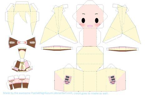 Anime Chibi Papercraft - neapolitan miku chibi papercraft by puellamagikazumi on
