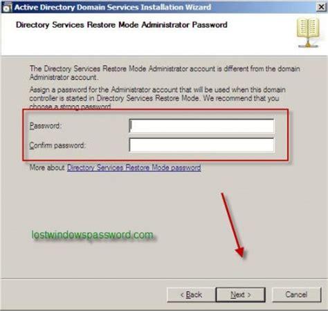 reset windows password on domain how to set active directory domain controller password