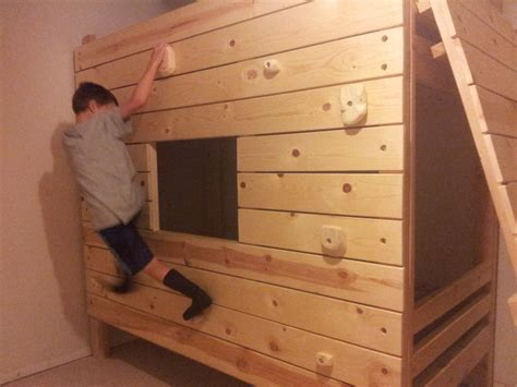 bunk bed with fort diy modular rock climbing bunk bed fort vs