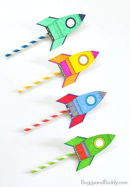 rocket card template straw rockets with free rocket template buggy and buddy