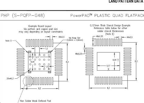 soic 8 footprint dimensions tas5754m need tas5754 tas5756 land pattern data for pcb