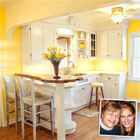 yellow and white kitchen cabinets yellow kitchen with white painted cabinets after remodel