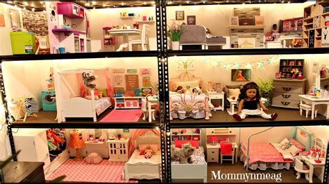 ag doll house tours huge american girl doll house new 2016 doll house tour mommyn meag youtube